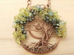 beaded wire wrapped tree of life pendants necklaces by perfectly twisted jewelry