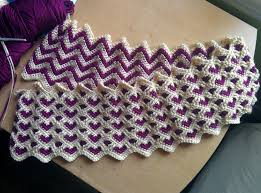 Ripple Afghan Patterns Custom WIP Reversible Sweetheart Ripple Afghan Crochet