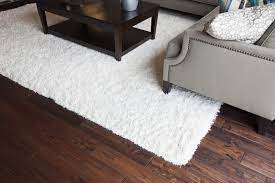 how to clean an area rug on a hardwood