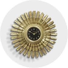 he sunblaze wall clock in vintage gold newgate clocks homeware