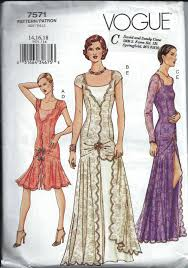 1920s Dress Patterns Fascinating Gorgeous 48's Style Flapper Dress Pattern Vogue 48 Size 4848