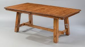 solid knotty alder wood timberline 100 extension table in saddle finish