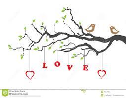 love birds in tree clipart.  Tree Two Love Birds And Tree Inside Love Birds In Tree Clipart D