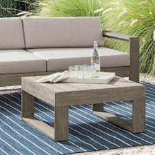 portside outdoor square coffee table