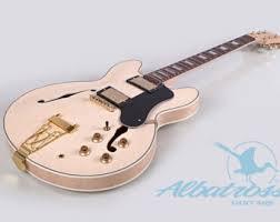 albatross guitars diy guitar kits by albatrossguitars on diy semi hollow body electric guitar kit and flamed maple veneer set in neck gk062