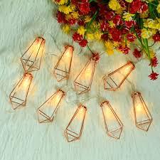 Buy Omika 20 Led Rose Gold Geometric Fairy Lights Usb