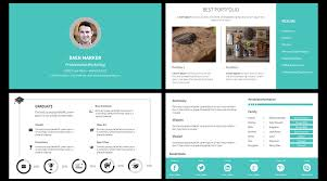 Resume Powerpoint Template Resume Powerpoint Template Stock