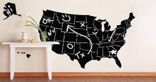 usa map chalkboard decal unique united states wall decal