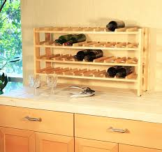 Wine Bottle Storage Angle Seville Classics Frn04714 40 Bottle Birchwood Wine Rack Amazonca