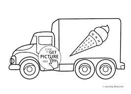 ice cream truck transportation coloring pages for kids printable free ice cream truck transportation coloring pages
