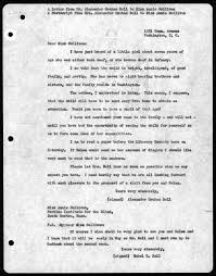 collection details  undated letter from alexander graham bell to annie sullivan