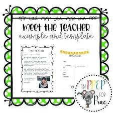 Meet The Teacher Letter Templates Teacher Introduction Letter Template Deserves Info