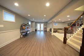 Design Ideas Kitchen Great Room Floor With Wooden Laminate - Wet basement floor ideas