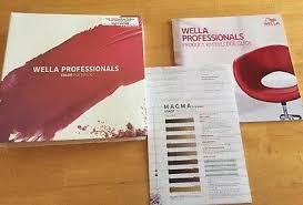 Wella Color Chart Book Brand New Sealed Wella Professionals Color Portfolio Swatch