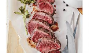 grilled venison loin with honey