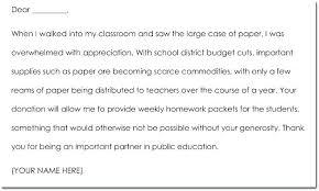 School Letter Template To Parents Teacher Parent Thank You
