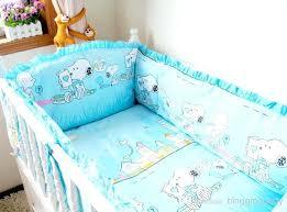 blue crib sheet