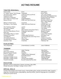 Acting Resume Sample Lovely Actor Resume Example New Resume