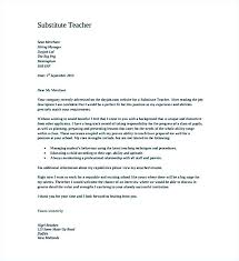 Substitute Teaching Cover Letter Cover Letter For Substitute Best