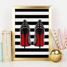 shoes print high heels birthday gift gift for wife gift for her  on shoe wall art high heels with best birthday high heels products on wanelo