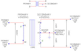 1 phase trans schematics part 2 ecn electrical forums 1 phase 3 wire center tapped secondary w polarity marks
