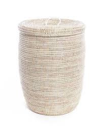 Fair Trade Hand-woven White Storage Hamper ...