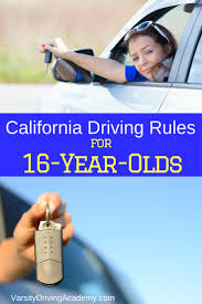 California driving in law teen