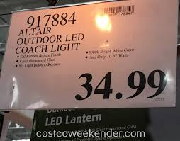 lighting altair outdoor led coach lantern costco weekender lighting deal for the light al 2152 950 lumen reviews blinking with optional arm kit parts