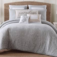 grey and white bedding king