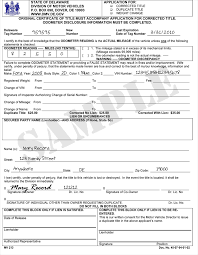sample title delaware division of motor vehicles vehicle services
