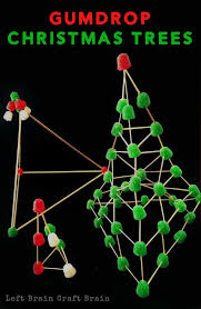 Gumdrop Christmas Trees are a sweet and festive way to build STEM skills  with kids.