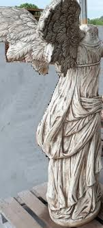 statue concrete h cm 155x91x40 statua nike in cemento tufo h cm 155x91x40