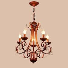 5 lights chandelier modern contemporary traditional lodge vintage retro country painting feature for crystal