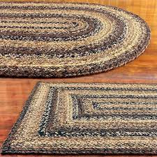 cappuccino braided area rug by ihf rugs oval rectangle many sizes black