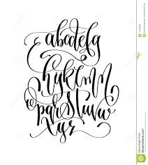 Black And White Hand Lettering Alphabet Design Handwritten
