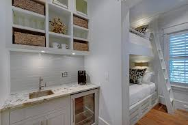 Design by jane lockhart interior design. Bunk Room With Coffee Station Nook Cottage Boy S Room