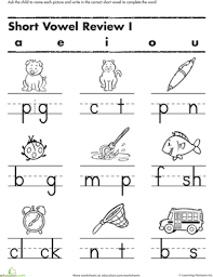 Logged in members can use the super teacher worksheets filing cabinet to save their favorite worksheets. Fill In The Short Vowel Phonics Kindergarten Phonics Worksheets Kindergarten Worksheets