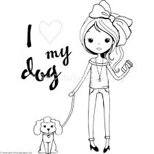 Cute Girl Coloring Pages Fashion Design Getcoloringpagesorg