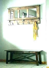 wall mirrors wall mirror with hooks target mirrors and shelf large