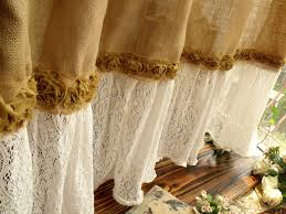 french country shower curtain burlap