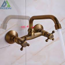 2018 antique brass kitchen sink faucet 360 rotate hot and cold bathroom kitchen mixer mop pool taps from dalihua 74 3 dhgate com