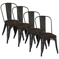 dining chairs set of 4. Worldwide Homefurnishings Gunmetal Metal And Elm Wood Dining Chair (Set Of 4 ) Chairs Set T