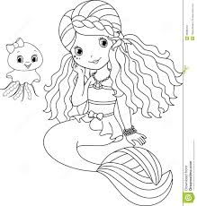 Well Mermaid Coloring Page Paged For Children New Free Pages Wpvoteme