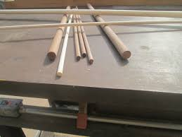 picture of making dowel rods with a table saw