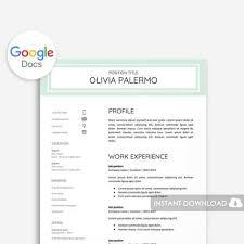 40 Google Docs Resume Template To Ace Your Next Interview Unique Resume Google Docs