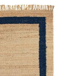 jute navy border rug jute rug with pink border