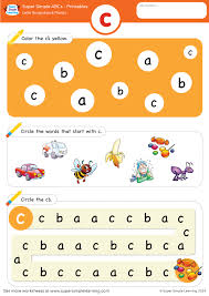 Lowercase letter c alphabet worksheet from Super Simple Learning ...