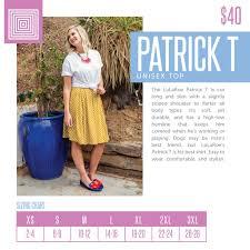 Patrick Size Chart Top Patrick Tee Mens Or Boyfriend Style Shoppe