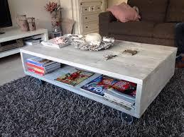Salon Tafel Van Grey Wash Steigerhout Acc Eti Environment In
