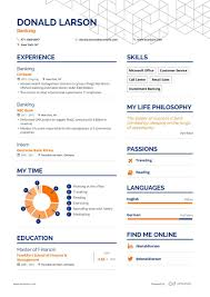 Chronological Resume Examples 2020 Banking Resume Example And Guide For 2019